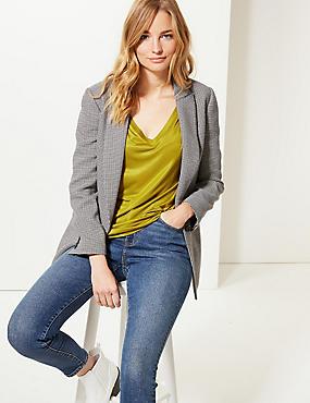 Mercerised V-Neck Short Sleeve T-Shirt