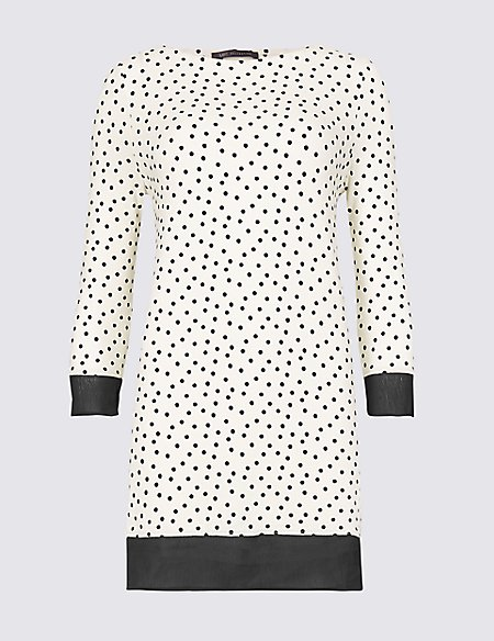 Spotted Longline 3/4 Sleeve Tunic