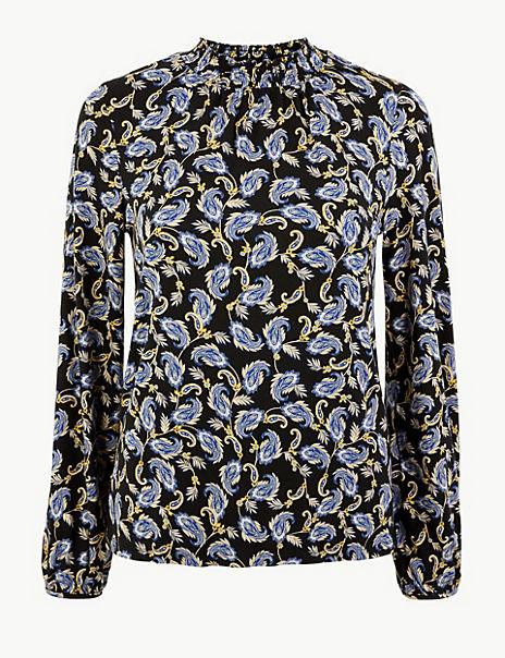 Paisley Print Long Sleeve Top