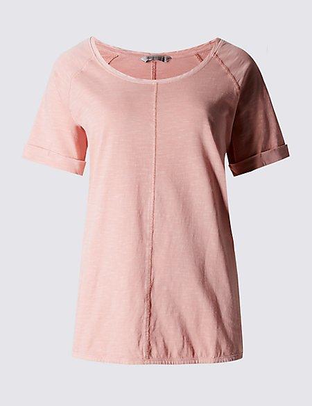 Pure Cotton Garment Dye T-Shirt