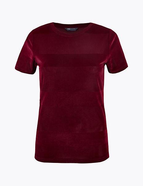 Velvet Textured T-shirt