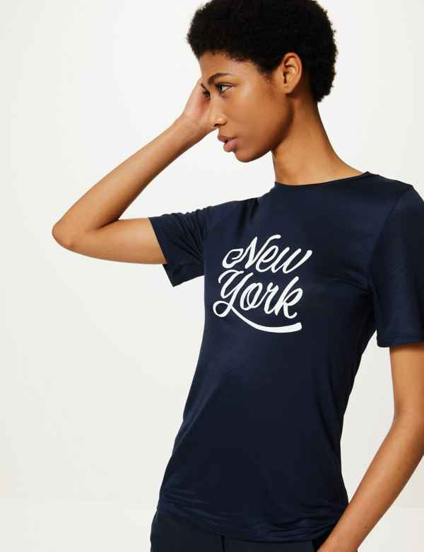 3ca95f21 Womens Tops & T shirt | Cool Printed Ladies Tshirts | M&S