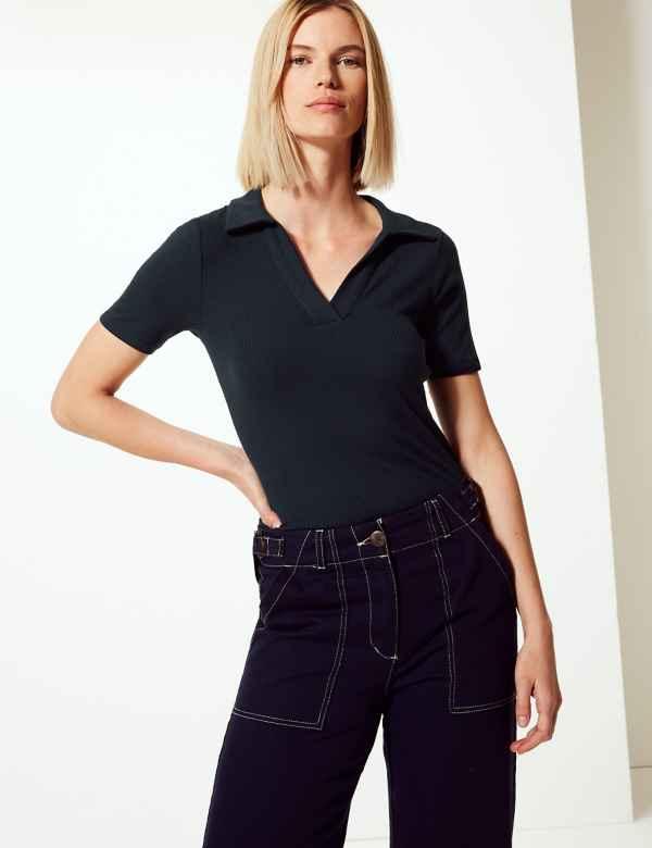 a879ef363 Polo shirts | Women's Tops & T Shirts | M&S