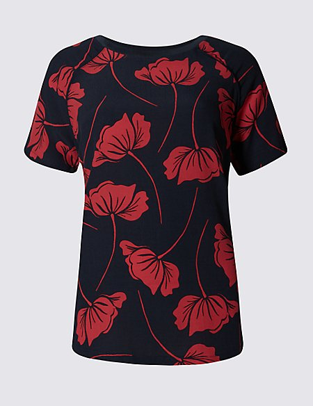 Floral Piped T-Shirt