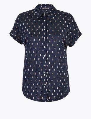 Jersey Printed Short Sleeve Shirt