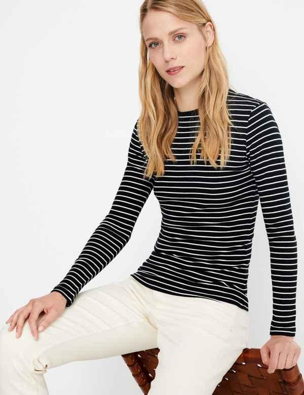 e7f6e36dcb2d Pure Cotton Striped Regular Fit T-Shirt
