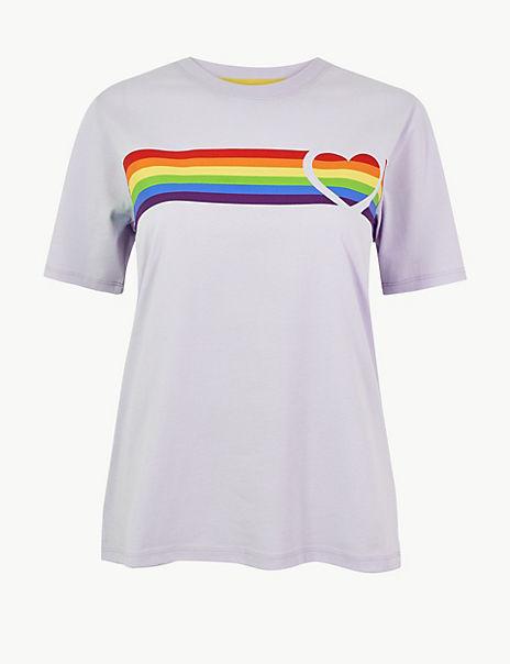 Pride Rainbow Stripe T-Shirt