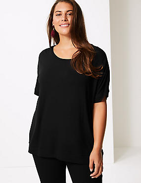 CURVE Round Neck Short Sleeve T-Shirt