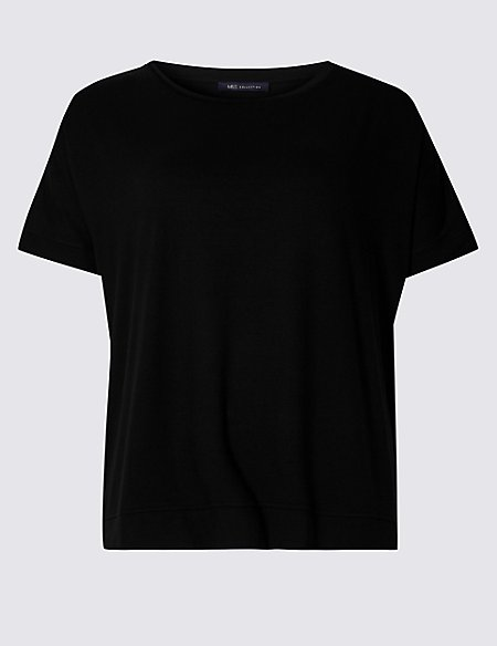 CURVE Round Neck Short Sleeve T-Shirt