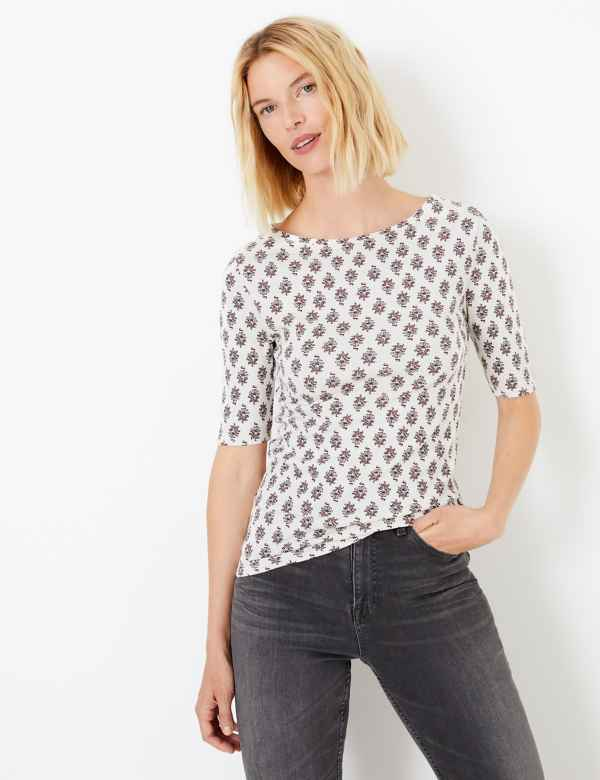 e4ec5d9cda89fc Pure Cotton Floral Regular Fit T-Shirt. 3 For 2. M&S Collection
