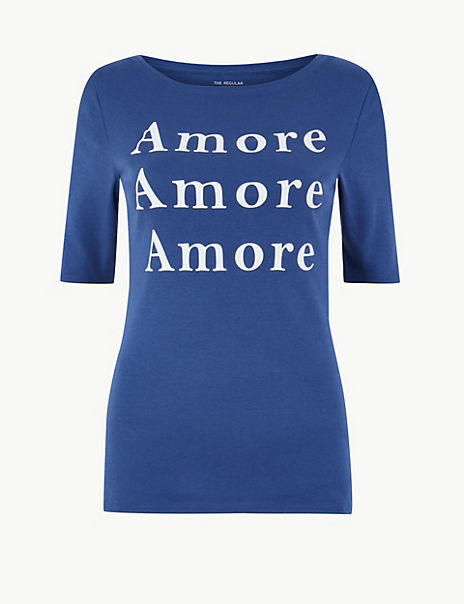 Pure Cotton Amore Regular Fit T-Shirt