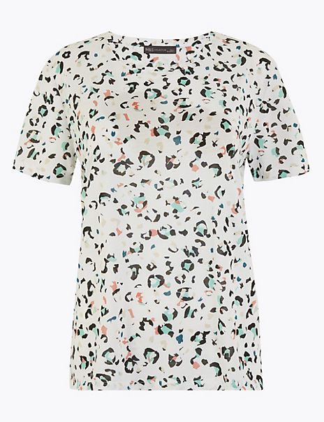Relaxed Fit Animal Print T-Shirt