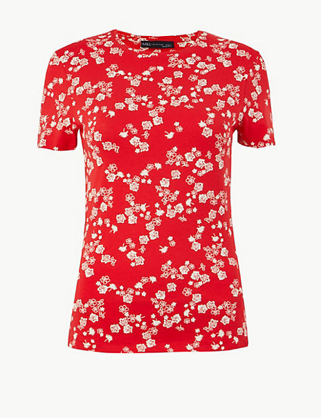 Floral Fitted T-Shirt