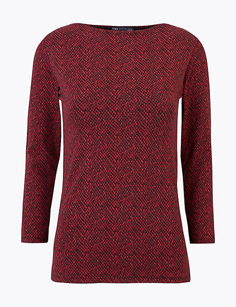 Cotton Rich Fitted Snake Print T-Shirt