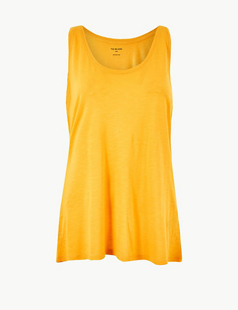 Relaxed Fit Slub Vest Top