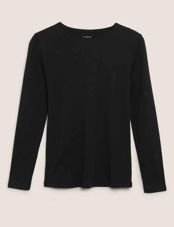223ebcb46be7a4 Womens Black Tops & T-shirts | M&S