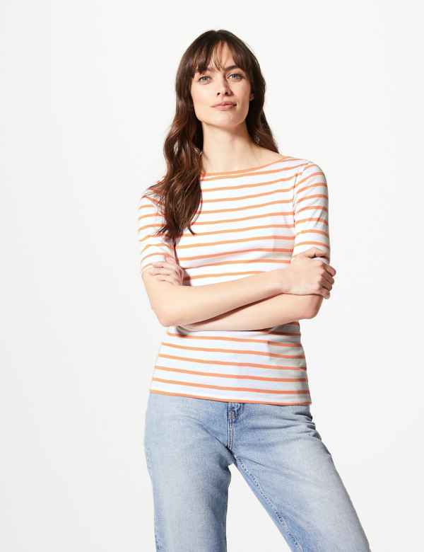 20c990cd Pure Cotton Striped Regular Fit T-Shirt