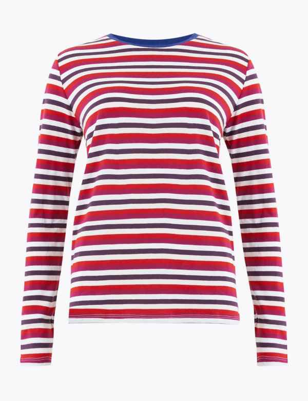 best deals on info for well known Striped   Tops for Women   M&S