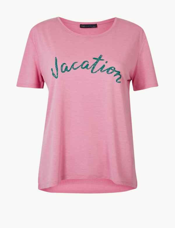 338c02a3 Womens Tops & T shirt | Cool Printed Ladies Tshirts | M&S