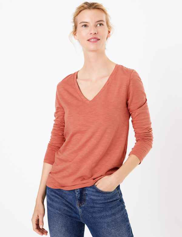 467fc416adde88 M&S Collection Womens Tops & T Shirts | Cotton & Linen | M&S