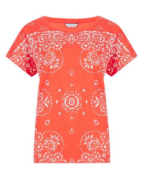 Floral Print Short Sleeve T-Shirt