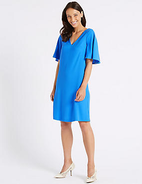Double Layer Half Sleeve Shift Dress