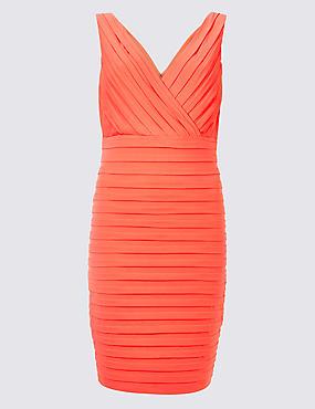 Textured Jersey Bodycon Dress