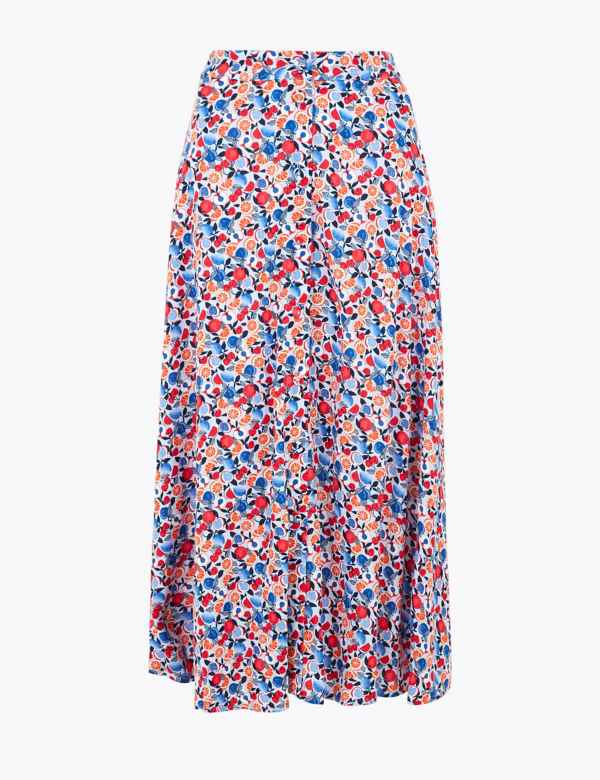 """New Womens Marks /& Spencer Blue Skirt Size 20 Length 30/"""""""