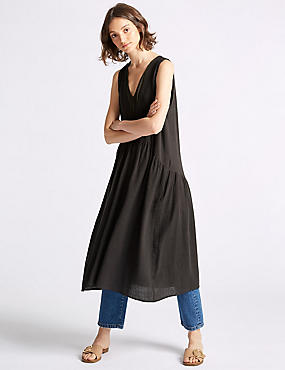 Cotton Rich Swing Midi Dress