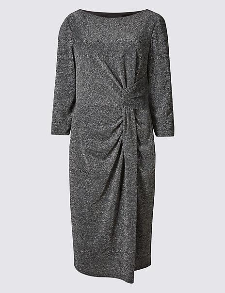 Sparkle 3/4 Sleeve Bodycon Dress