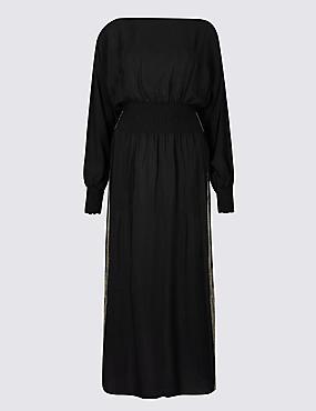 Long Sleeve Tea Midi Dress
