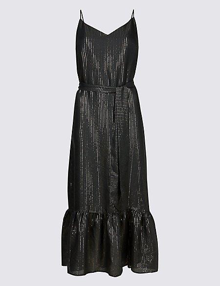 Striped Swing Midi Dress