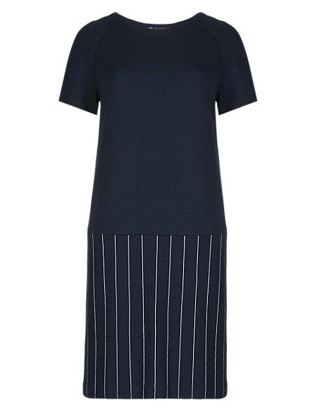 Best of British Pinstripe Shift Dress