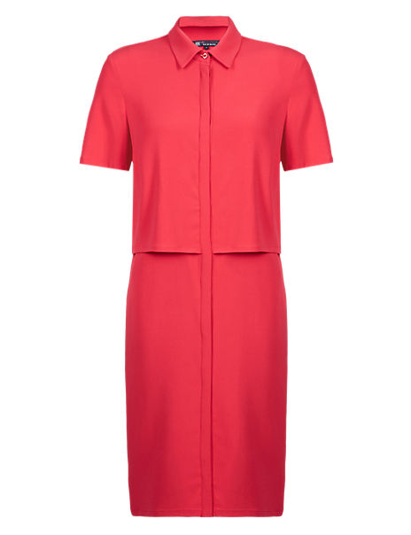 Best of British Double Layer Shirt Dress