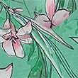 Floral Print Waisted Midi Dress, MINT MIX, swatch