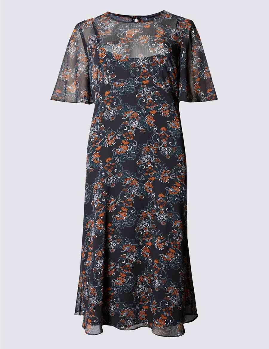 8bb1513b86a9 Paisley Floral Midi Dress