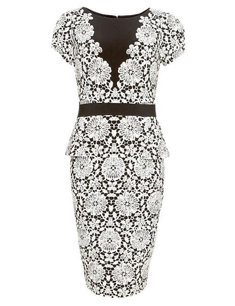 Drop a Dress Size Floral Peplum Dress with Secret Support™