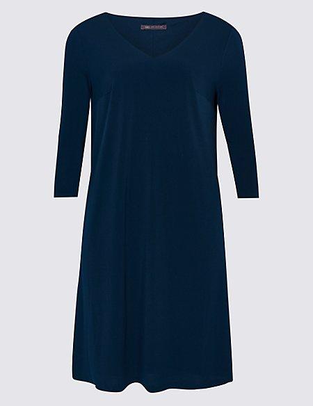 CURVE 3/4 Sleeve Swing Dress