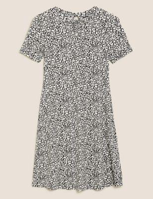 Animal Print Knee Length Swing Dress