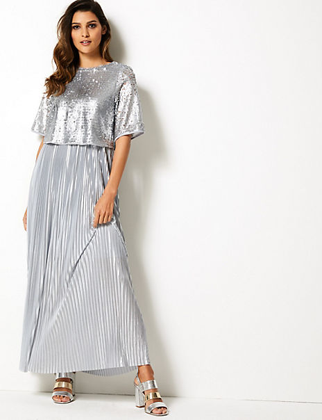 Sparkly Maxi Swing Dress