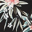 Floral Wrap Midi Dress, BLACK MIX, swatch