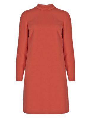 4a41129d4e9 PETITE Copper High Neck Tunic Dress | M&S Collection | M&S