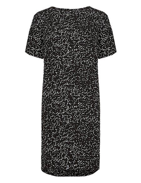 Marble Print Tunic Dress