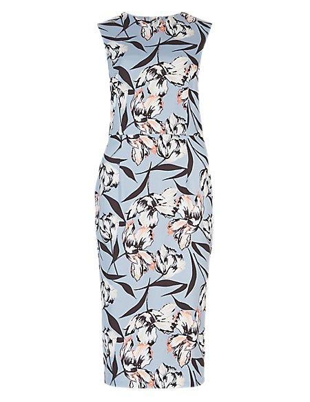 Floral Scuba Bodycon Dress