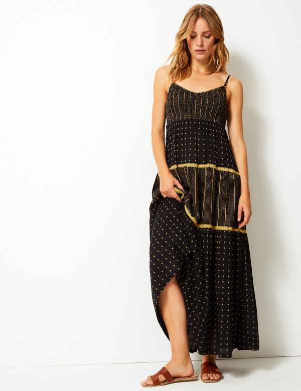 9bc194f5fc4 Textured Swing Maxi Dress