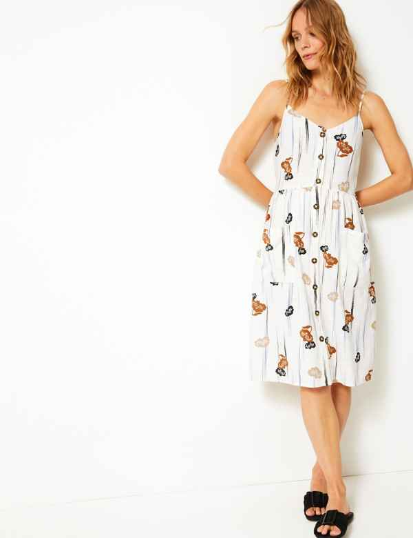 5ac0e7f3528 Cami Floral Print Waisted Dress