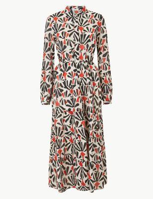 bc1b7f29607 Tiered Floral Print Shirt Maxi Dress £45.00