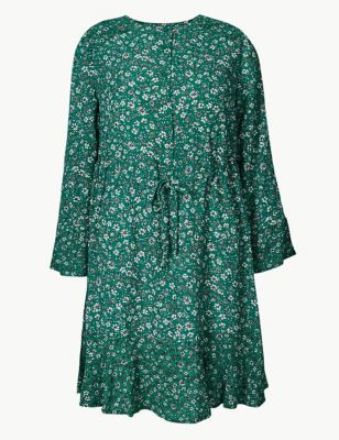 f2011d1f9729 Floral Drawcord Relaxed Mini Dress £29.50