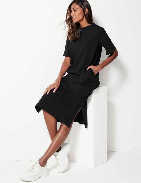 Pure Cotton T-Shirt Midi Dress 8ed291ebc