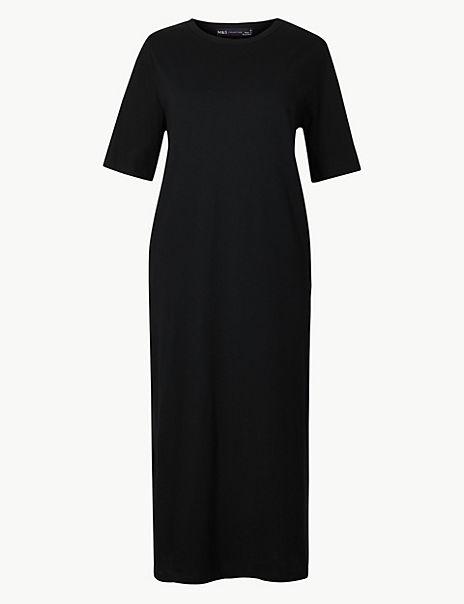 Pure Cotton T-Shirt Midi Dress